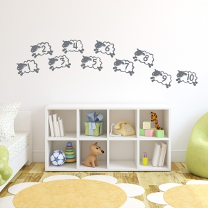 Counting Sheep Wall Art Decal