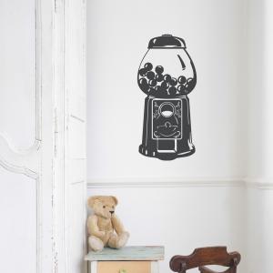 Retro Gumball Machine Wall Art Decal