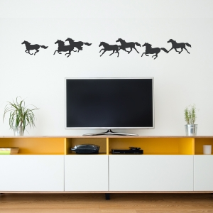 Horse Pack Wall Decal