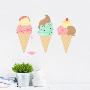 Ice Creams Printed Wall Decal