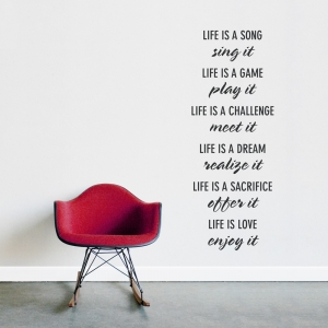 Life Is Wall Quote Decal