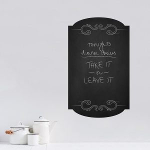 Chalkboard Menu Frame Wall Decal