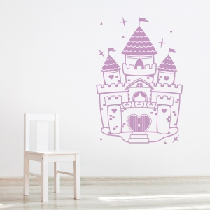 Lilac Purple Princess Castle Wall Art Decal