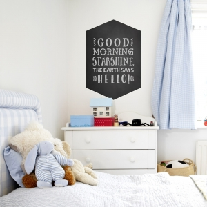 Chalkboard Retro Badge Wall Decal