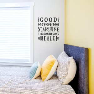 Good Morning Starshine Wall Quote Decal