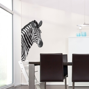 Zebra Printed Wall Decal