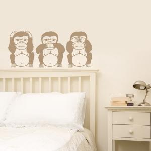 3 Wise Monkeys Wall Decal