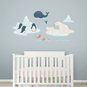 Alaska Friends Standard Printed Wall Decal