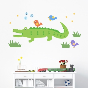 Alligator and Friends Standard Printed Wall Decal