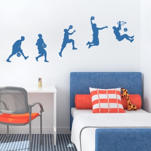 Basketball Sequence Wall Decal