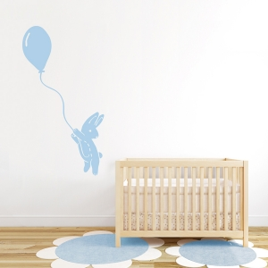 Bunny Away Wall Decal