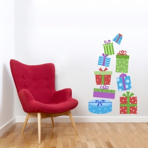 Christmas Gifts Printed Wall Decal