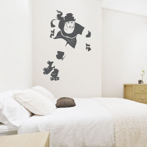 Derby Girl Wall Decal