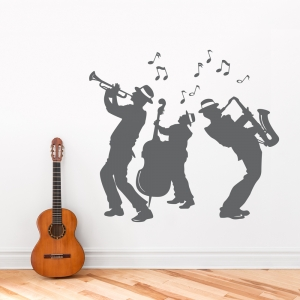 Jazz Band Wall Decal