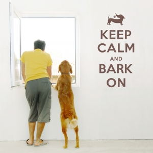 Keep Calm and Bark On wall decal
