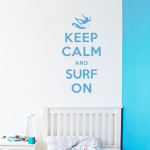 Keep Calm and Surf On wall decal