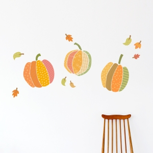 Pattern Pumpkins Printed Wall Decal