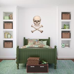 Realistic Skull Printed Decal
