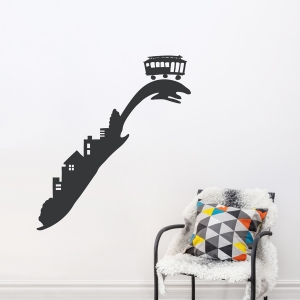San Francisco Trolley Wall Decal