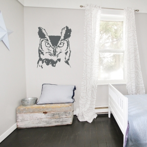 Serious Owl Wall Decal