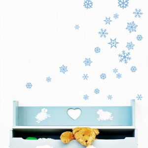 Classic Snowflakes Wall Decal