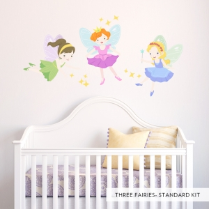 Three Fairies Printed Wall Decal