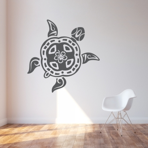 Tribal Turtle Wall Decal