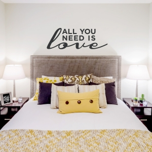 All You Need is Love Wall Quote Decal