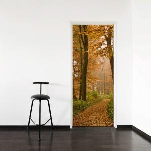 Autumn Forest Path Door Mural