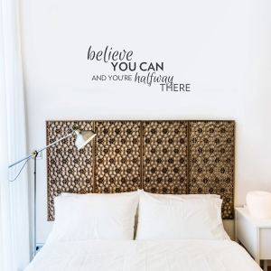 Believe You Can Black Wall Quote Decal
