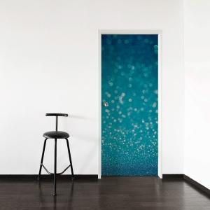 Blue Glitter Door Mural