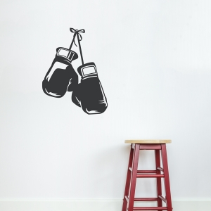 Boxing Gloves Grey Wall Decal