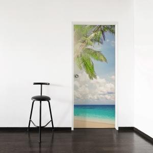 Bright Palm Door Mural