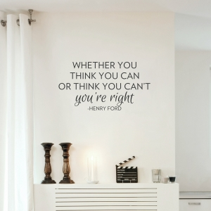 Can or Can't Wall Quote Decal