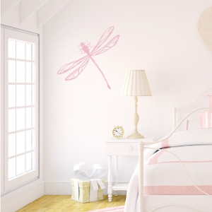 Dragonfly Carnation Pink Wall Decal