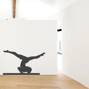 Gymnast on Balance Beam Wall Decal
