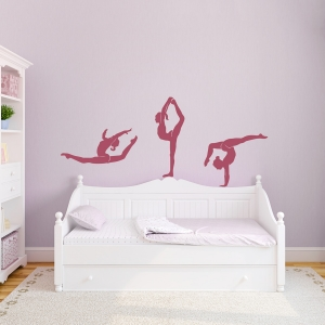 Gymnastics Trio Wall Decal