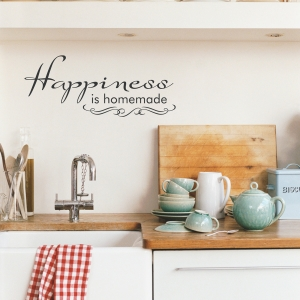 Happiness is Homemade Wall Quote Decal