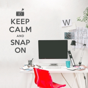 Keep Calm and Snap On Red Wall Decal