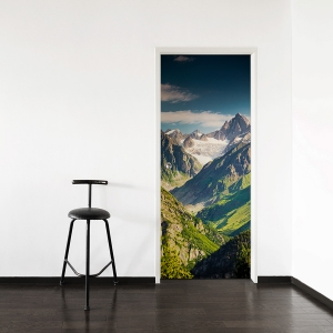 Mountain View Door Mural