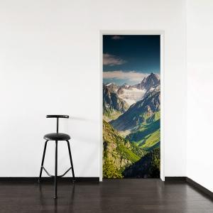 Mountain View Door Mural