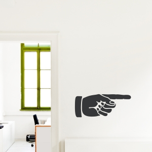 Pointing Hand Wall Decal