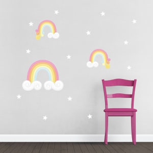 Rainbows Printed Wall Decal