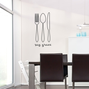 Say Grace Wall Quote Decal