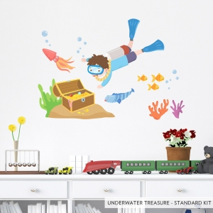Underwater Treasure Standard Printed Wall Decal