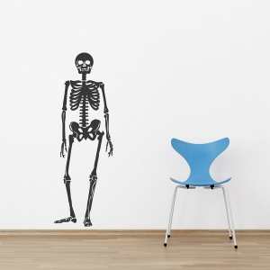 Skeleton Black Wall Decal