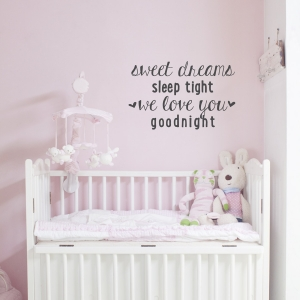 Sleep Tight Wall Quote Decal