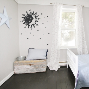 Sun and Moon Wall Decal