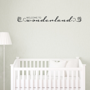 Welcome to Wonderland Wall Decal - Black