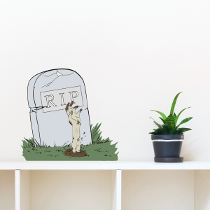 Zombie Tombstone Printed Wall Decal